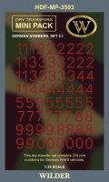 ワイルダー[MP3503]WWII ドイツ軍ナンバー3.1 レッド