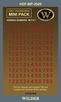 ワイルダー[MP3509]WWII ドイツ軍ナンバー6.1 レッド