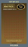 ワイルダー[MP3512]WWII ドイツ軍ナンバー3.2 レッドアウトライン