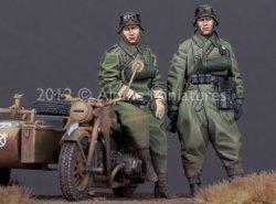 画像2: Alpine Miniatures[AM35144]独 オートバイ兵セット