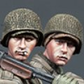 Alpine Miniatures[AM35171]1/35 WWII 米BAR銃手&歩兵 2体セット