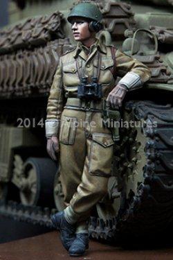 画像4: Alpine Miniatures[AM35180]WWII 英 王室戦車軍団 戦車兵 (2体セット)