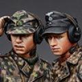 Alpine Miniatures[AM35189]武装親衛隊戦車指揮官(迷彩服)2体セット