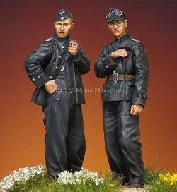 画像1: Alpine Miniatures[AM35207]1/35 武装親衛隊 AFVクルーセット Uボートジャケット 1944-45(2体セット)