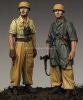 Alpine Miniatures[AM35222]1/35 WWII独 イタリア戦線の第1降下猟兵師団 (2体セット)(熱帯軍装)