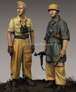画像3: Alpine Miniatures[AM35222]1/35 WWII独 イタリア戦線の第1降下猟兵師団 (2体セット)(熱帯軍装)