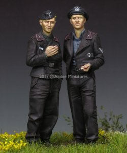 画像1: Alpine Miniatures[AM35228]1/35 WWII独 国防軍戦車クルー (2体セット)(パンツァージャケット)