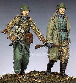 画像1: Alpine Miniatures[AM35231]1/35 WWII独 ハンセン戦闘団 ポトーの戦い(2体セット)