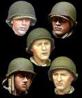 Alpine Miniatures[H019]1/35 WWII米 歩兵ヘッドセット(5個セット)