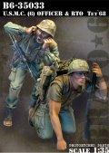 Bravo6[B6-35033]1/35 米海兵隊(6)歩兵将校と無線手 テト攻勢'68(2体セット)