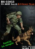 Bravo6[B6-35053]1/35 米 歩兵ベトナム(4)兵士と軍用犬