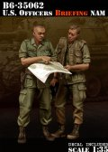 Bravo6[B6-35062]1/35 米 将校ベトナム 作戦会議(2体セット)