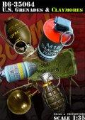 Bravo6[B6-35064]1/35 米 クレイモア地雷と手榴弾セット ベトナム