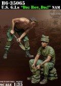 Bravo6[B6-35065]1/35 米 兵士ベトナム 土のう作成中(2体セット)