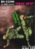 Bravo6[B6-35300]1/35 米 歩兵ベトナム(11)手榴弾投擲(2体セット)