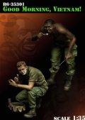 """Bravo6[B6-35301]1/35 米 歩兵ベトナム""""グッド・モーニングアメリカ""""(2体セット)"""