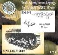 BrachModel[BM084]イタリア軍Mシリーズ戦車用履帯、転輪、サスペンションセット