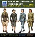 ブロンコ[CBA3537] 1/35 米英・女性後方支援補助兵士4体・WW2