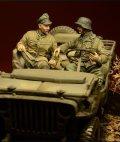 D-Day miniature studio[DD35030] 1/35 武装親衛隊乗車クルー(2体セット) アルデンヌ1944
