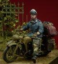 D-Day miniature studio[DD35080]1/35 WWII独 ヘルマンゲーリング師団 将校(バイク跨乗)