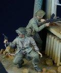 D-Day miniature studio[DD35021] 1/35 WWII 英/英連邦歩兵 2体セット 戦闘中 1943-45