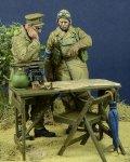 D-Day miniature studio[DD35095]1/35 WWII英 将校&伝令兵&司令部セット フランス1940(2体セット)