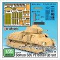 DEF.MODEL[DE35013]1/35ソミュアS35 エッチングディテールアップセット ( 1/35 タミヤ ソミュア S35用)