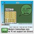 DEF.MODEL[DM35068]1/35 現用 カモフラージュネット サポートロッド付き(1)グリーン