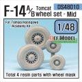 DEF.MODEL[DS48010]1/48 F-14A/Bトムキャット 中期型自重変形タイヤセット(タミヤ/ハセガワ用)