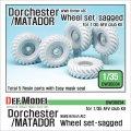 DEF.MODEL[DW30034]1/35 WWIIブリティッシュエース ドーチェスターマタドール 自重変形タイヤ(AFVクラブ用)