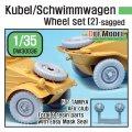 DEF.MODEL[DW30038]1/35 WWII独キューベルワーゲン/シュビムワーゲン タイヤセット #2(タミヤ/AFVクラブ用)
