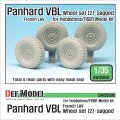 DEF.MODEL[DW35096]1/35 現用仏 パナールVBL 軽装甲機動車 自重変形タイヤ 2(ミシュラン)(タイガーモデル/ホビーボス用)