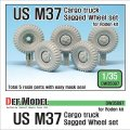 DEF.MODEL[DW35097]1/35 米 M37カーゴトラック 自重変形タイヤ(ローデン用)