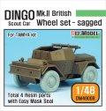 DEF.MODEL[DW48008]1/48 英 装甲偵察車 ディンゴ Mk.II 自重変形タイヤ(タミヤ用)