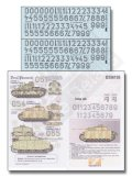 Echelon[D356136]LSSAHの中戦車砲塔番号デカールセットクルクス 1943