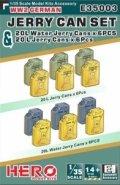 ヒーローホビーキッツ[HHKE35003]1/35 WW2ドイツ軍用ジェリー缶(燃料x6個)と ジェリー缶(水用6個)セット