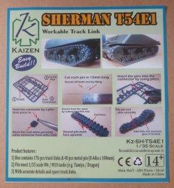 画像1: KAIZEN[Kz-SH-T54E1]1/35  M4 シャーマン T54E1 連結可動履帯