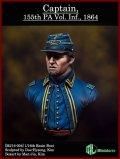 MJ Miniatures[MJ16-004]1/16 第155ペンシルバニア義勇兵大尉 1864