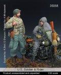 マンティス・ミニチュアズ[Man35058]1/35 WWII米兵士とバイク搭乗兵