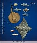 マンティス・ミニチュアズ[Man35076]1/35 動物セット20 海の魚