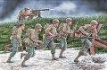 マスターボックス[MB35130]1/35 米・歩兵突撃シーン+マシンガンチーム7体1944