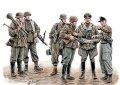マスターボックス[MB35162]1/35 独・戦闘兵士6体1945-迷彩スモックスタイル上級将校+戦車兵他