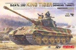 画像1: モンモデル[MENTS-031]1/35 ドイツ重戦車 キングタイガーヘンシェル砲塔