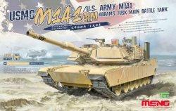 画像1: モンモデル[MENTS-032]1/35 アメリカ海兵隊 M1A1 AIM/アメリカ陸軍 M1A1 TUSK エイブラムズ戦車