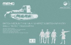 画像1: モンモデル[MENTS-021S]1/35 イギリス中戦車マークAホイペット&イギリス歩兵セット