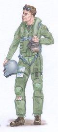 PlusModel[AL4011]1/48米 F-16戦闘機 パイロット