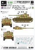 STAR DECALS[SD16-001]1/16 WWII独 IV号戦車J型 武装親衛隊第1装甲連隊 LAH師団 フランス1944