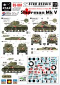 STAR DECALS[SD35-861] 1/35 WWIIカナダ イタリア戦線のカナダ軍 シャーマンMk.V 第11,第12機甲連隊 デカールセット