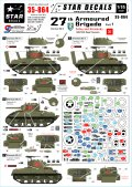 STAR DECALS[SD35-864] 1/35 WWII英 第27機甲旅団 #1 D-Day/ノルマンディ 第13/18 王室軽騎兵連隊シャーマンMk.III デカールセット