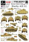 STAR DECALS[SD35-867] 1/35 WWII独 イタリア戦線#4「シシリー43」第504重戦車大隊/第15装甲擲弾兵師団/HG師団 デカールセット